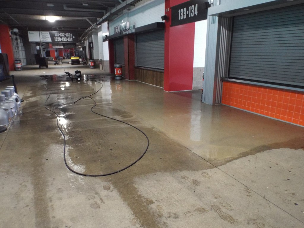 Cleaning First energy Stadium. Summer 2015